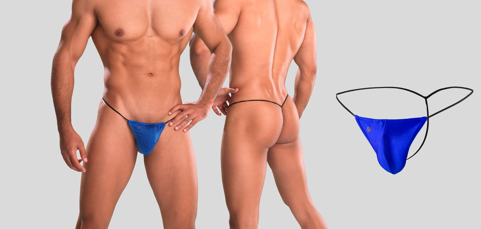 G-string - Blauw (100) - One size (ONE)