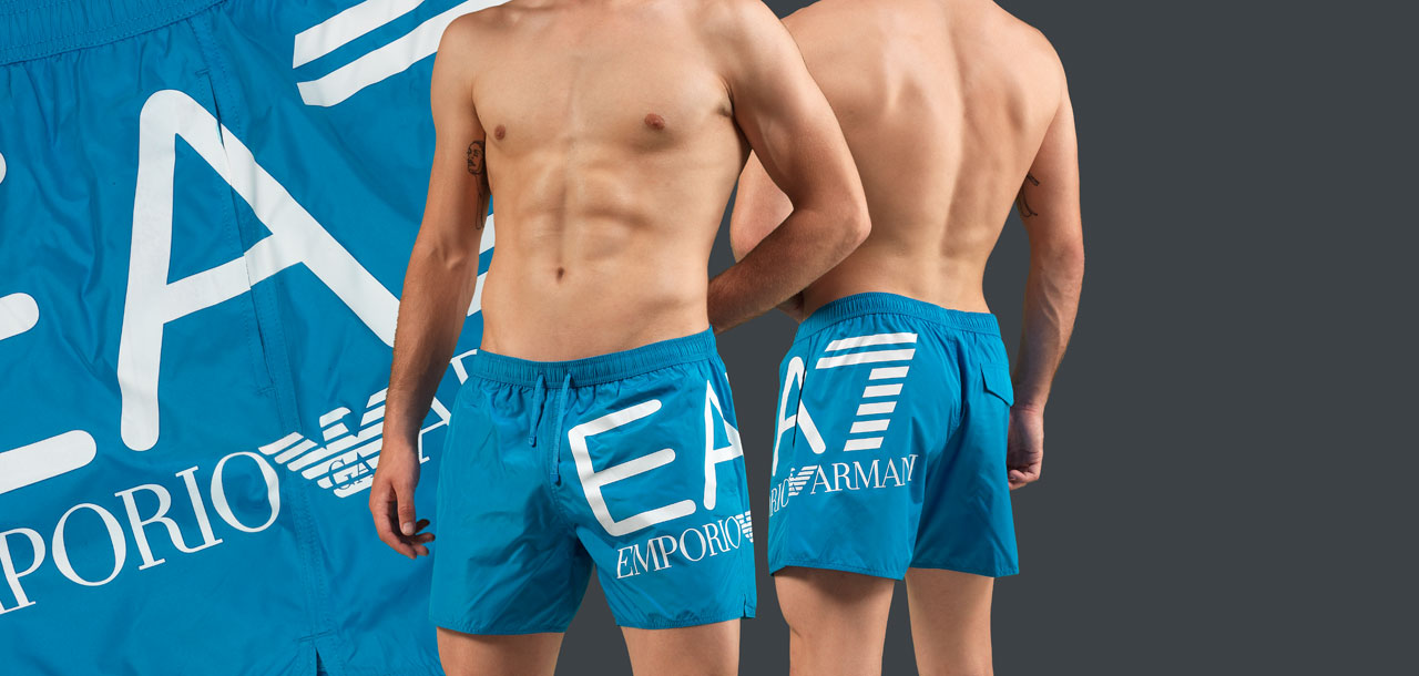 Emporio Armani Logo Swim Short 8P739-Oranje (550)-S