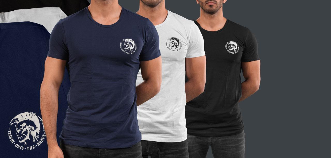 Diesel Randal Round Neck T-Shirt 3-Pack TANL-Zwart/Wit/Blauw (972)-XXL