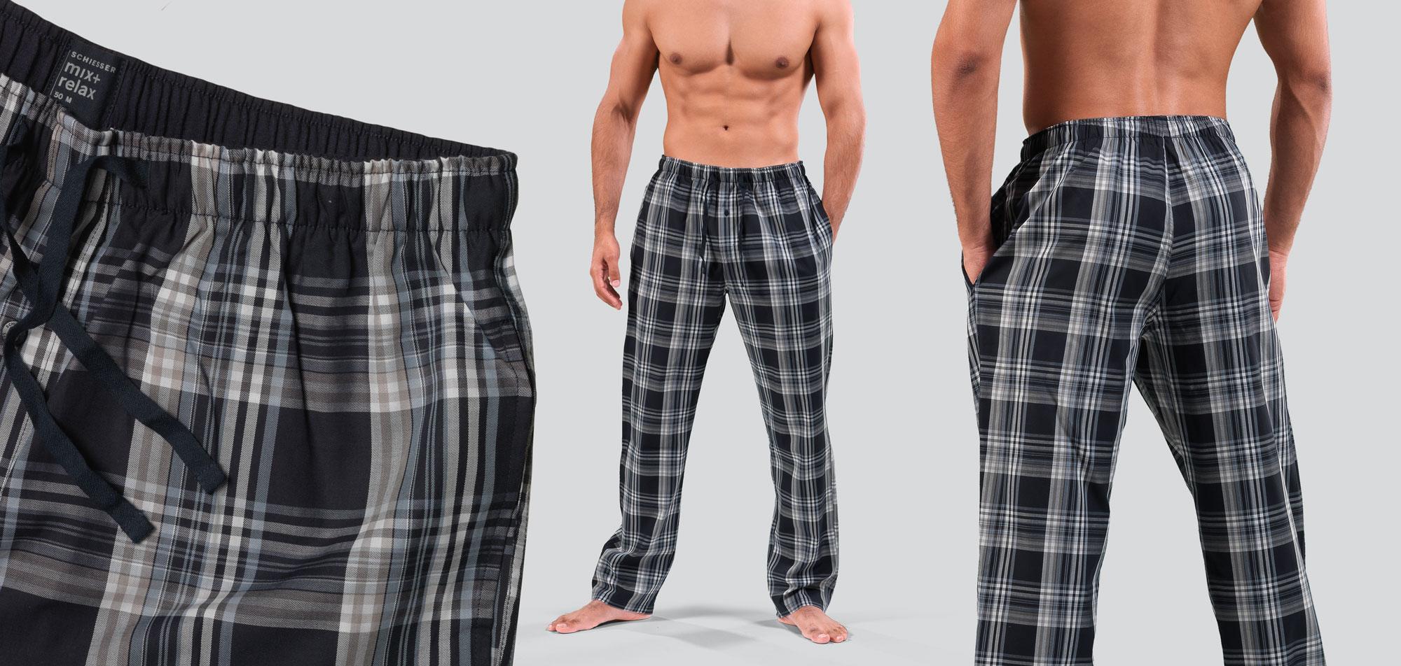 Schiesser Long Pants 842-Multi Blauw (101)-L