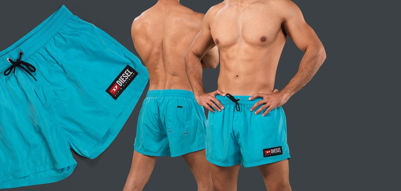 Diesel Sandy Calzoncini Swim Short GATZ-Turquoise (107)-S