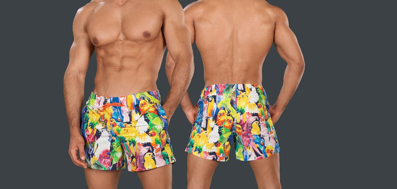Hom Papagayo Beach Swim Short 277-Rainbow (799)-L