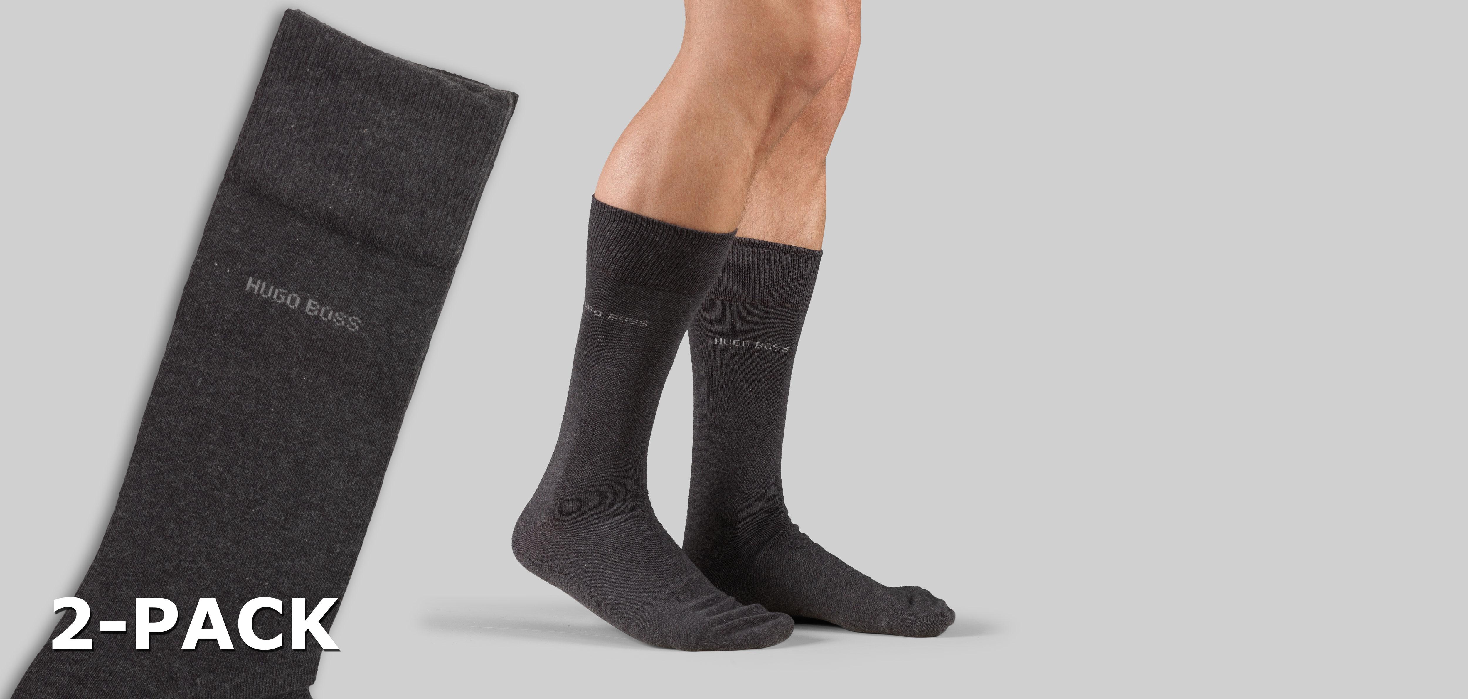 Boss RS Uni Socks 2-Pack 437-Zwart (050)-M39-42