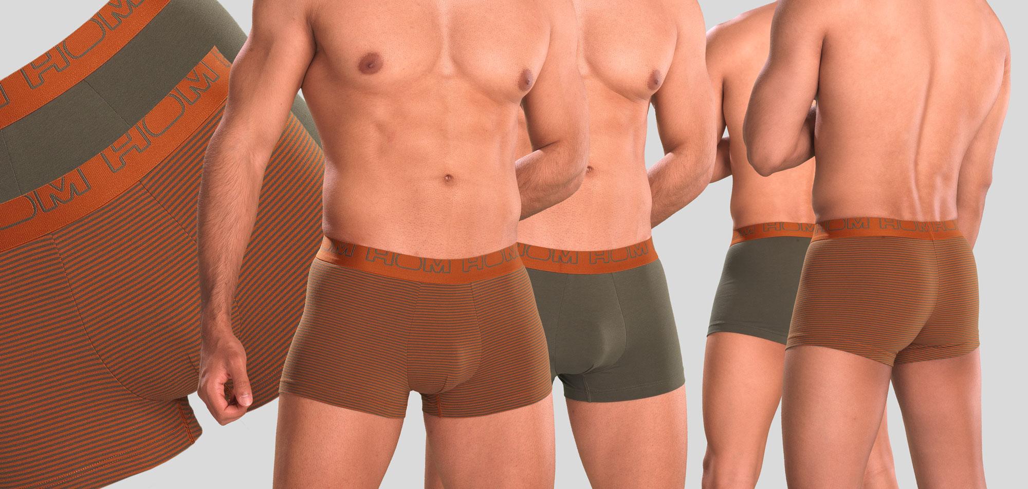 Hom Frank Boxer Briefs 2-Pack 942-Groen/Oranje (920)-XL