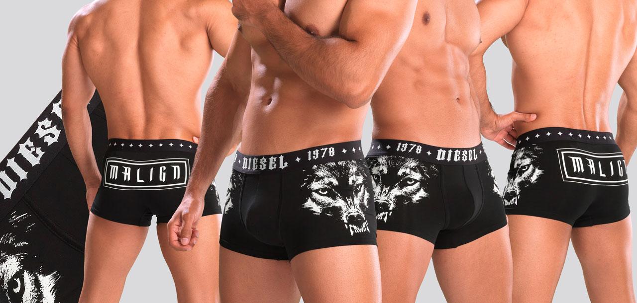 Diesel Damien Boxershort ABAN-Multi Zwart (051)-M