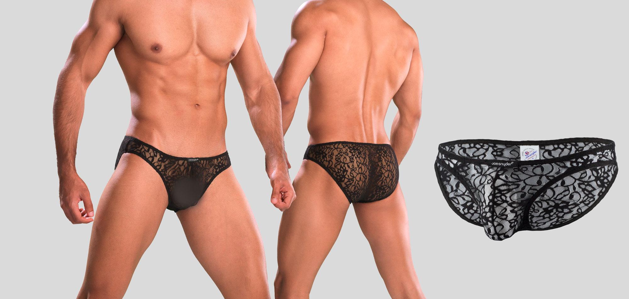 Joe Snyder Shining Bikini Lace 01-Transparant Wit (005)-S